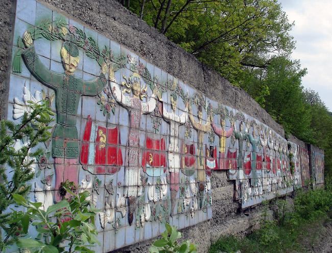 Soviet Pioneer tile mosaic